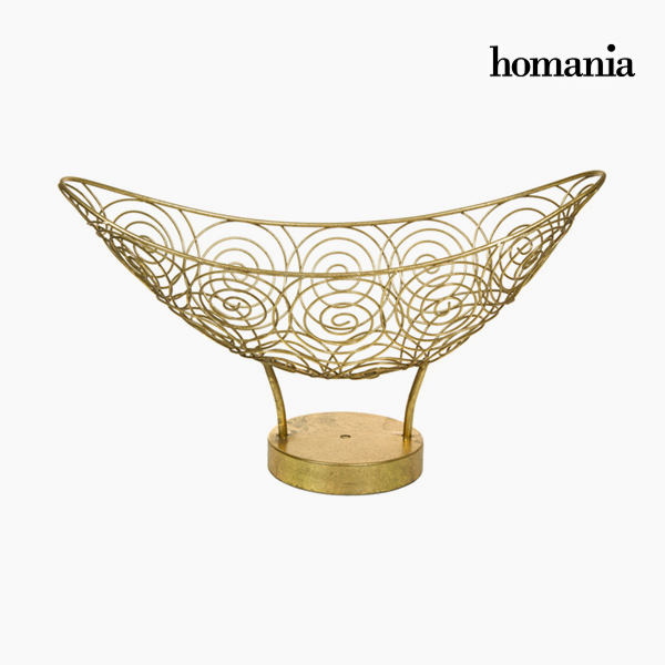 Centerpiece Metal Golden - New York Collection by Homania