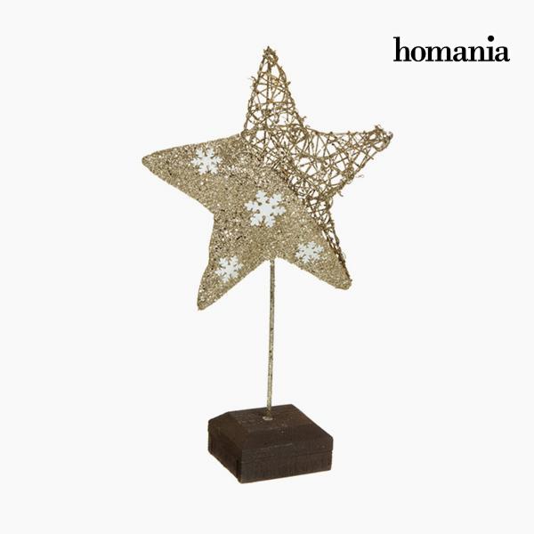 Decorative Figure Star Champagne Gold by Homania