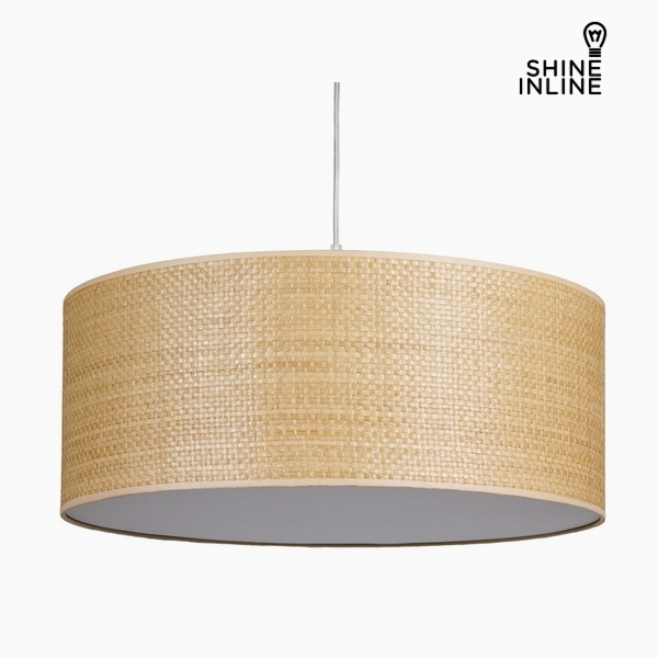 Ceiling Light Raffia Cotton and polyester (50 x 50 x 20 cm) by Shine Inline