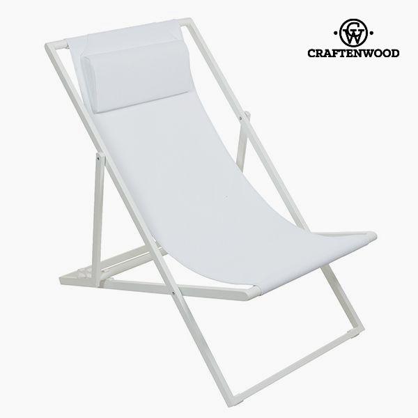 Garden chair Aluminium Textilene White by Craftenwood