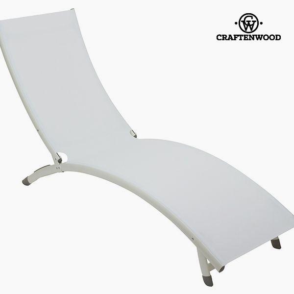 Sun-lounger (180 x 55 x 25 cm) Aluminium White by Craftenwood