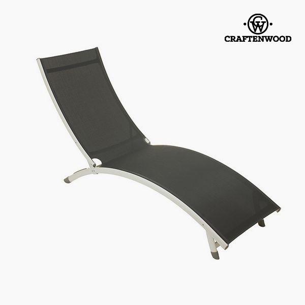 Sun-lounger (180 x 55 x 25 cm) Aluminium Grey by Craftenwood