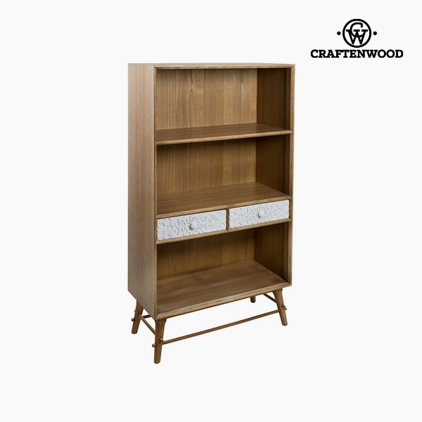 Shelves Mdf and pine (2 drawers) (80 x 36 x 142 cm) by Craftenwood