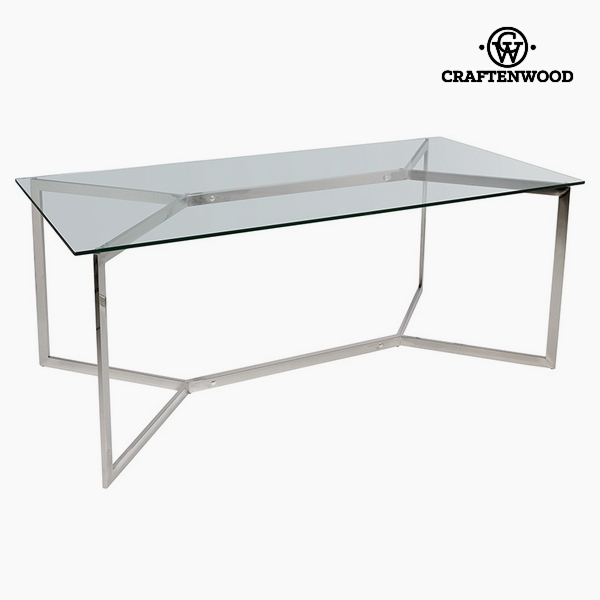 Dining Table Tempered glass (190 x 90 x 75 cm) by Craftenwood