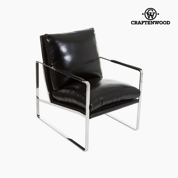 Armchair Black Polyskin (65 x 83 x 87 cm) by Craftenwood