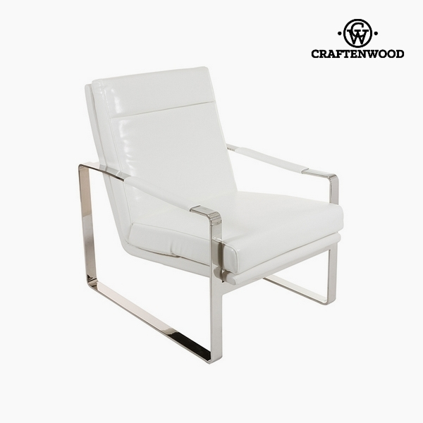 Armchair White (70 x 85 x 100 cm) by Craftenwood