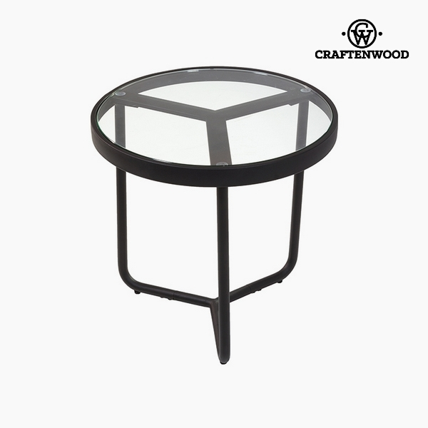 Side Table Iron Glass (50 x 50 x 50 cm) by Craftenwood
