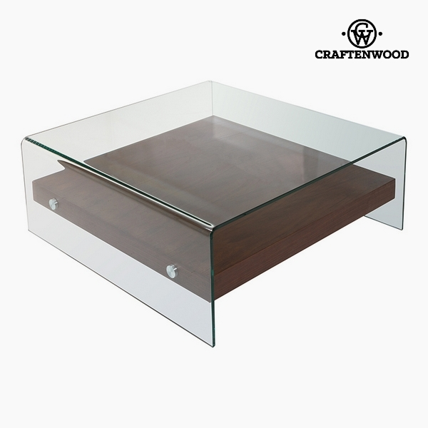 Centre Table Curved glass (100 x 100 x 38 cm) by Craftenwood