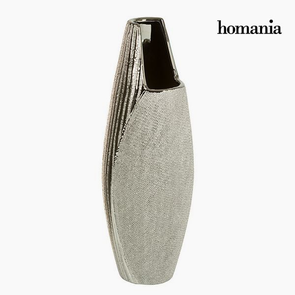 Vase Ceramic Silver - Queen Deco Collection by Homania