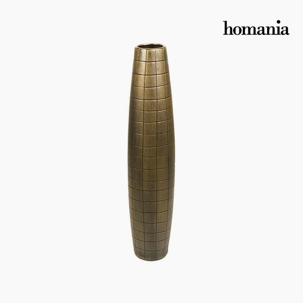 Floor vase Ceramic Gold (17 x 17 x 80 cm) by Homania