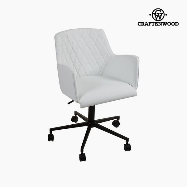 Chair White Polyskin (62 x 62 x 76 cm) by Craftenwood
