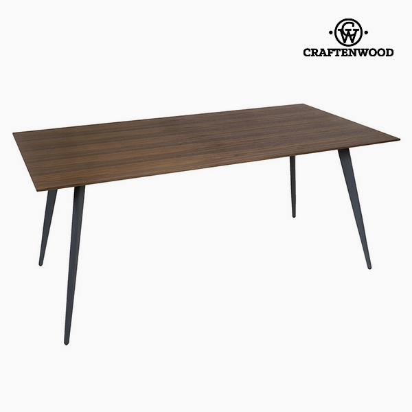 Dining Table Mdf Walnut (180 x 90 x 75 cm) by Craftenwood