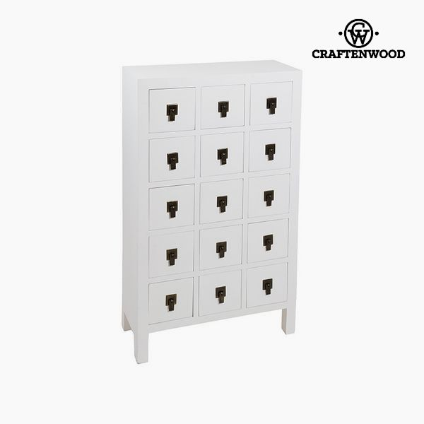 Hall Mdf White (63 x 26 x 105 cm) - Modern Collection by Craftenwood