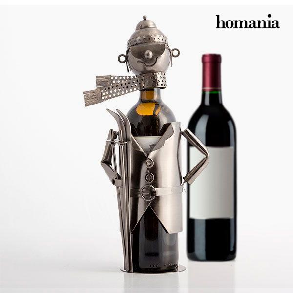 Metallic Skier Wine Rack