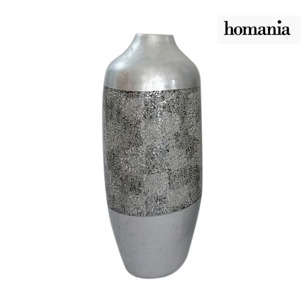 Vase Bamboo Silver (24 x 24 x 59 cm) by Homania