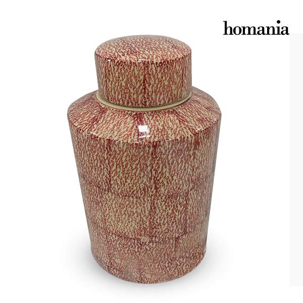 Tibor Stoneware Red (20 x 20 x 32,5 cm) by Homania
