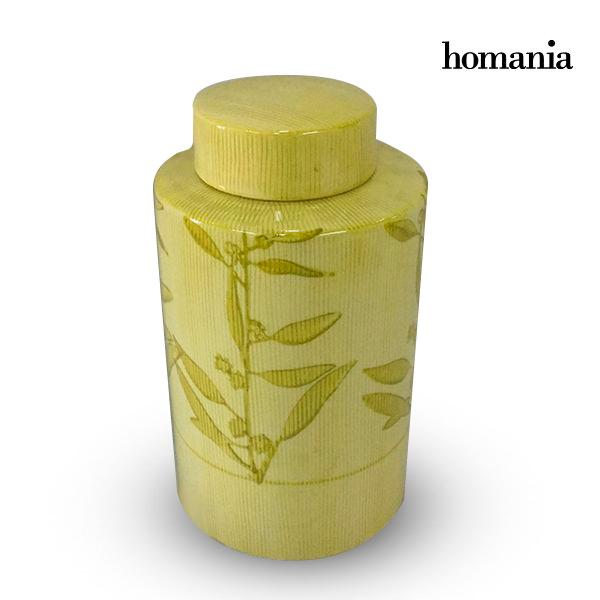 Tibor Stoneware Yellow (11 x 11 x 20 cm) by Homania