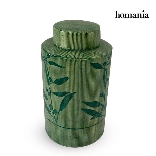 Tibor Stoneware Green (11 x 11 x 20 cm) by Homania