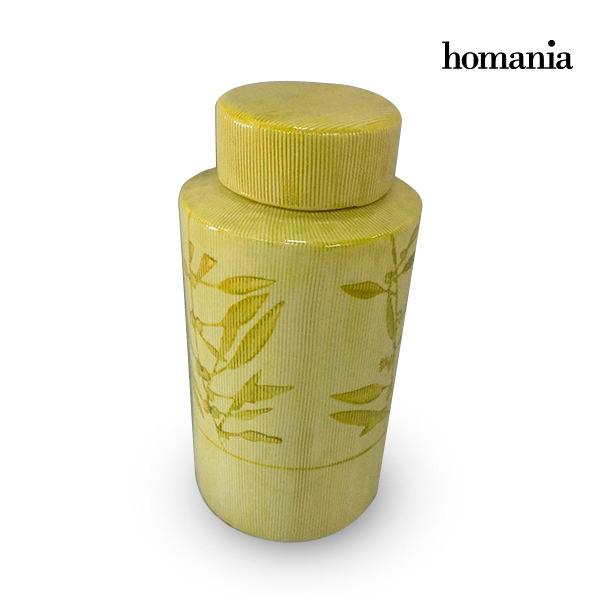 Tibor Stoneware Yellow (13 x 13 x 25 cm) by Homania