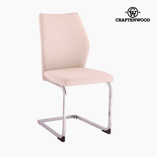 Chair Polyester Beige (42 x 59 x 105 cm) by Craftenwood