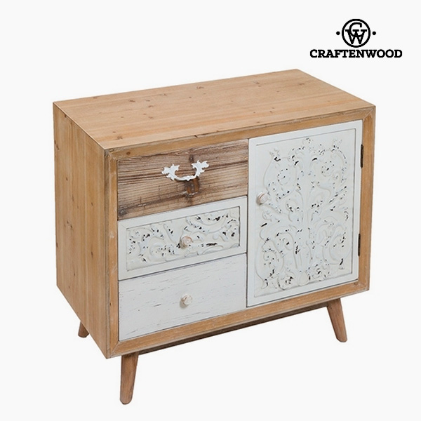 Console Mdf Fir wood (3 drawers) (77 x 40 x 67 cm) by Craftenwood