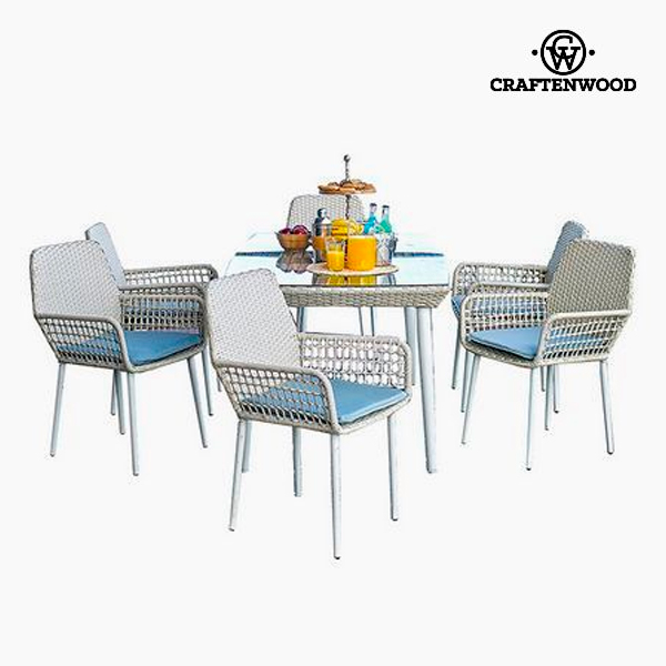 Table set with 6 chairs (7 pcs) by Craftenwood