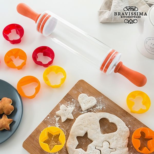 Rolling Pin with Biscuit Cutters (9 pieces)