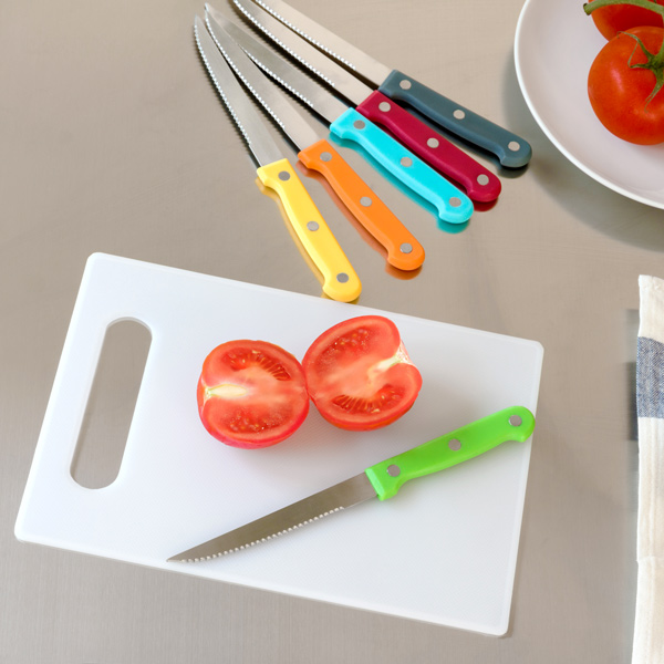Colors Set of Knives with Board (7 pieces)