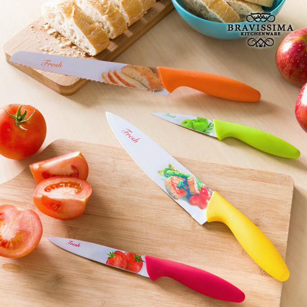 Bravissima Kitchen Fresh Ceramic Knives (set of 4)