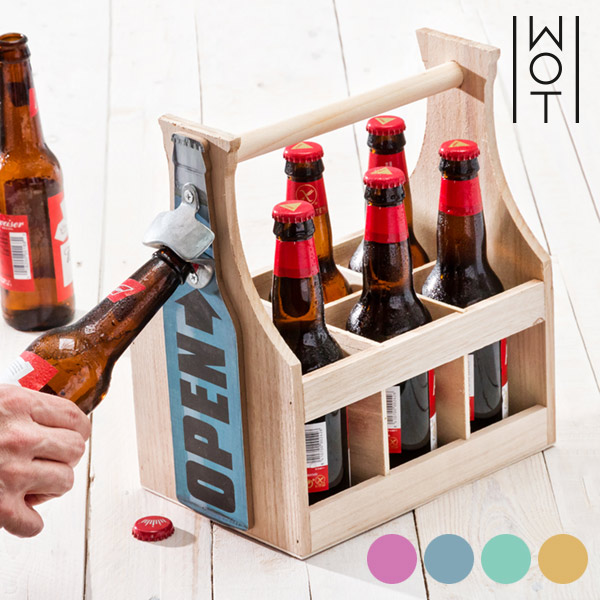Wagon Trend Bottle Rack with Integrated Opener