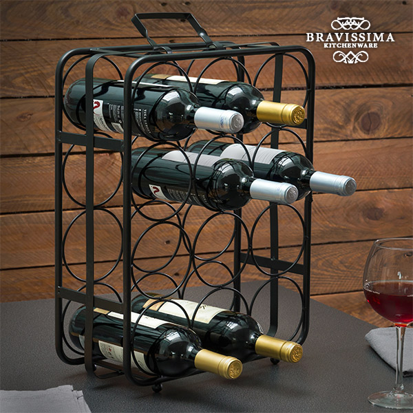 Bravissima Kitchen Valise Metal Bottle Rack