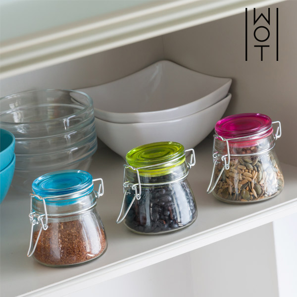 Wagon Trend Vintage Colors 8x8 Glass Jars (pack of 3)