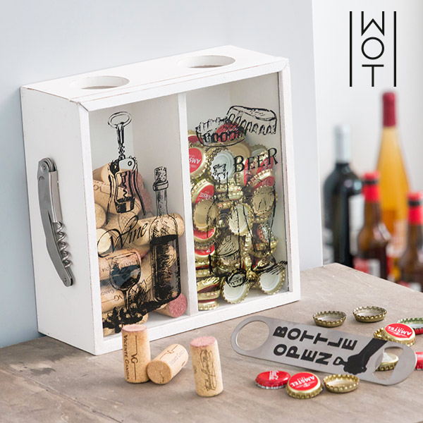 Wagon Trend Decorative Box for Bottletops & Wine Corks