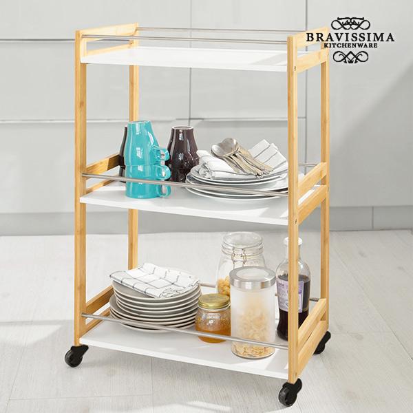 Bravissima Kitchen Bamboo Waitress Trolley