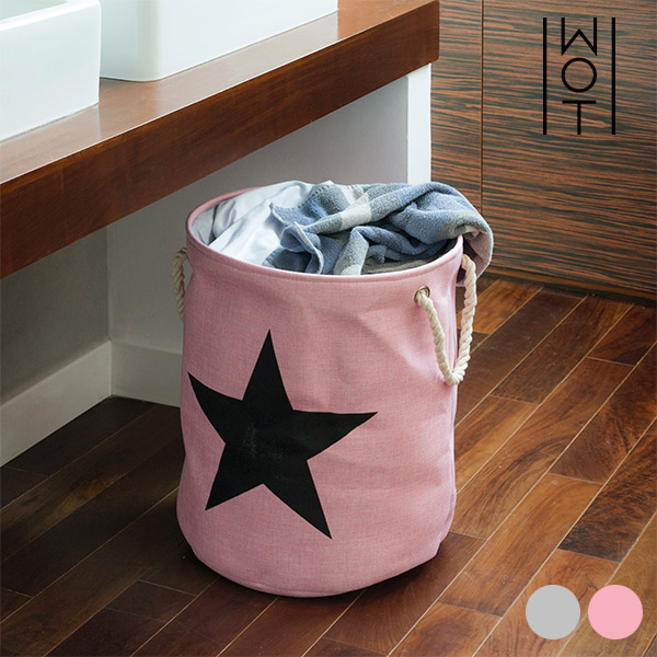 Wagon Trend Black Star Laundry Bag