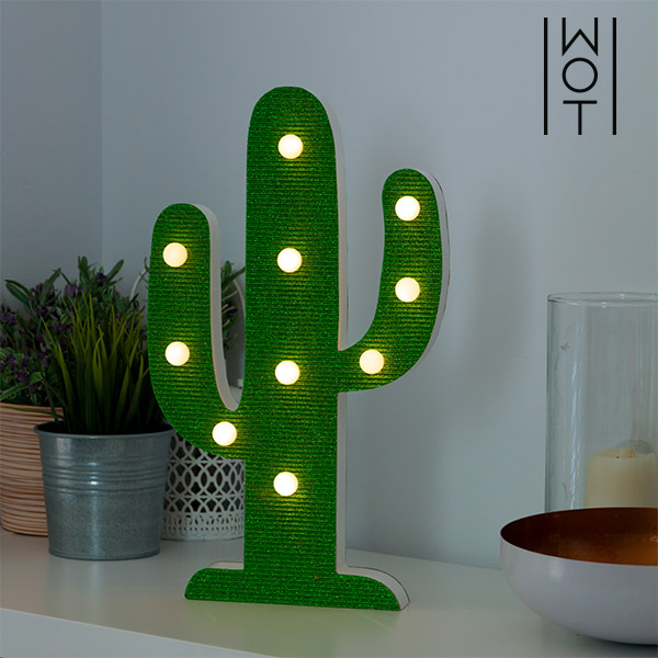 Wagon Trend Cactus LED Lamp (10 LED lights)