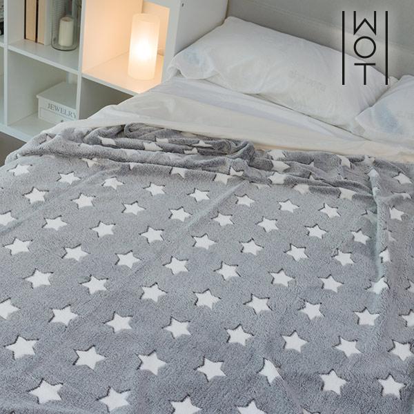 Wagon Trend Star Patterned Soft Blanket 130 x 160 cm