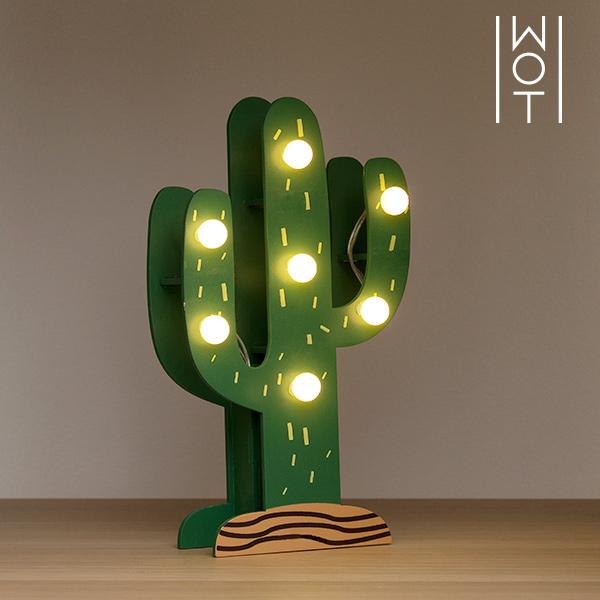 Wagon Trend Decorative Wooden Cactus (7 LED)