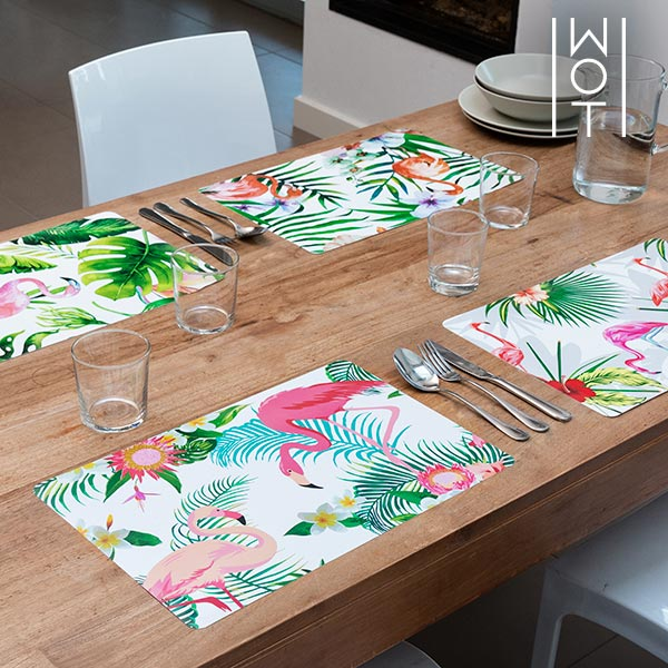 Wagon Trend Tropical Flamingo Placemats