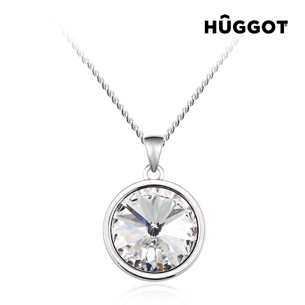 Hûggot Balance Rhodium-Plated Pendant Created with Swarovski®Crystals (40 cm)