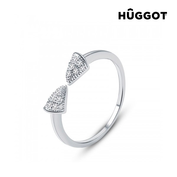 Hûggot Egyptian 925 Sterling Silver Adjustable Ring  with Zircons