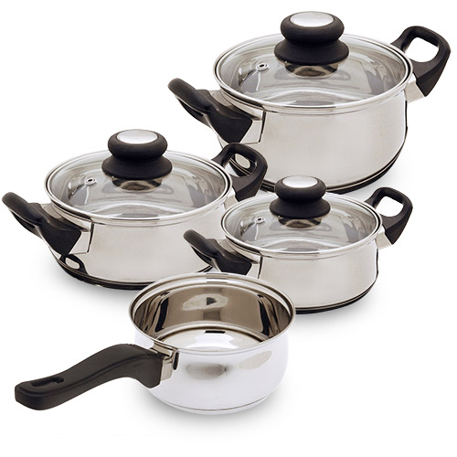 Stainless Steel Cookware (7 pieces)